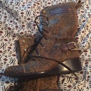 Michael Kors Brown Leather Boots